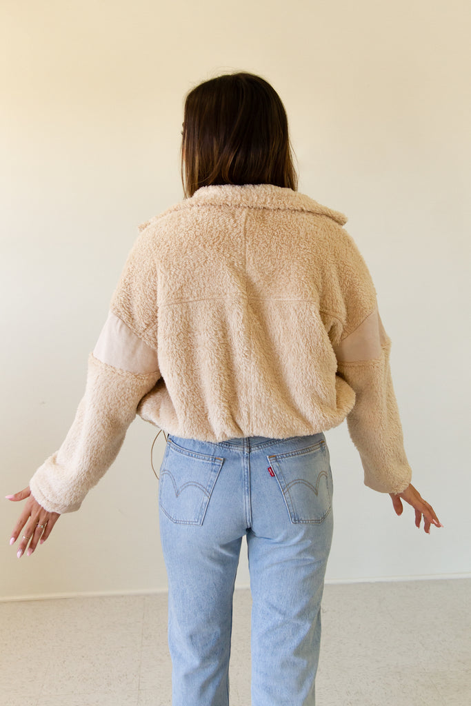 Love Story Faux Fur Jacket by For Good