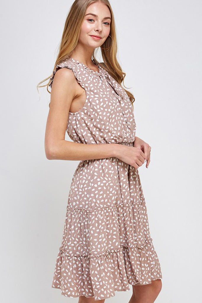 Turn Around Tiered Ruffle Dress by For Good