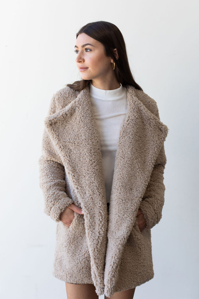 Sweet Spot Sherpa Jacket By For Good