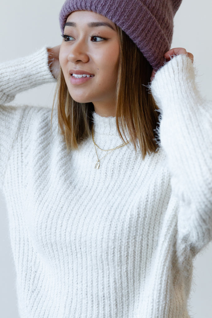 Promise Me Ribbed Knit Sweater