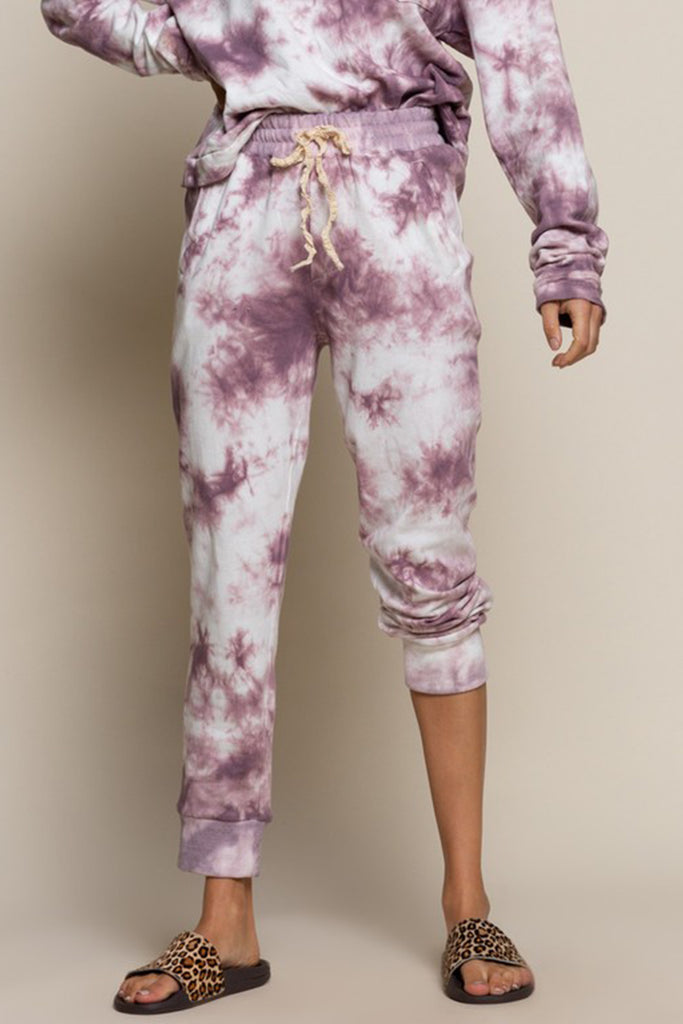 purple tie dye pants