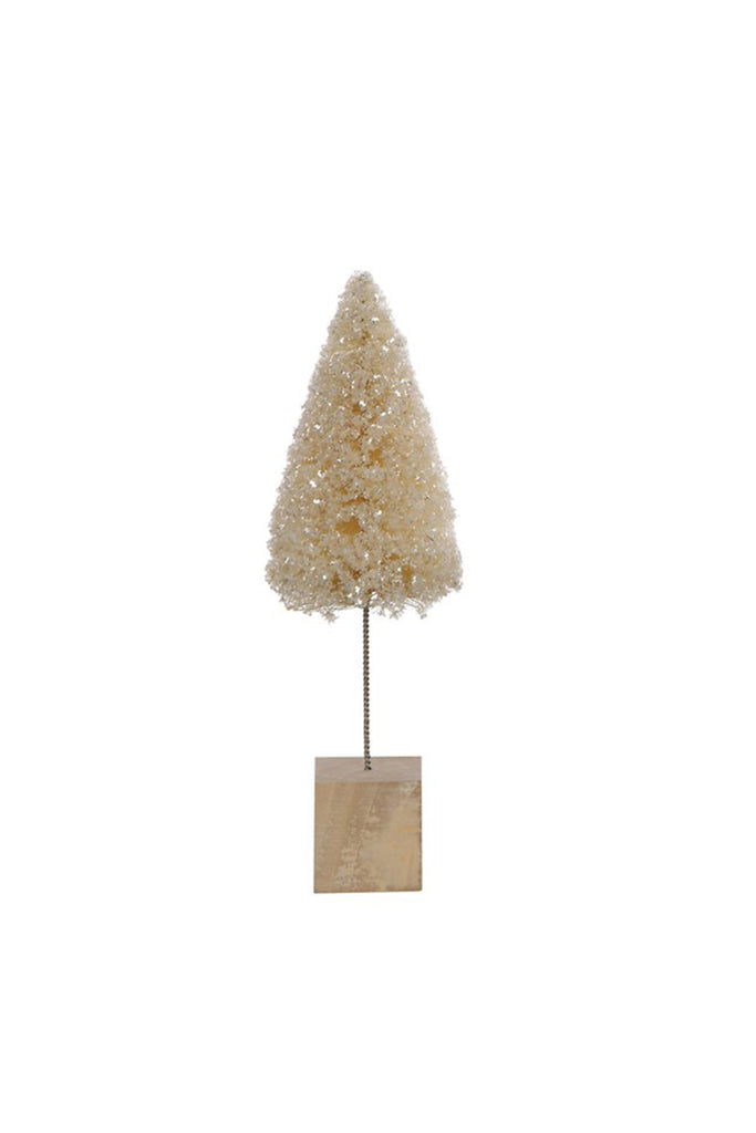Small Cream Christmas Tree by For Good