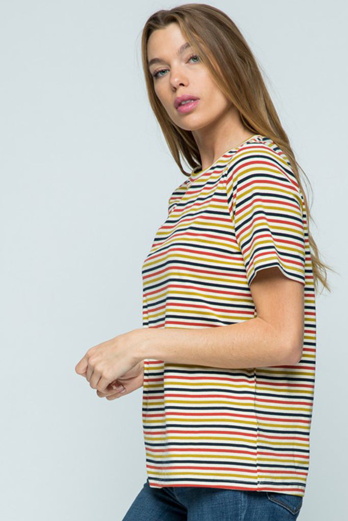 When I'm Ready Striped T-shirt by For Good