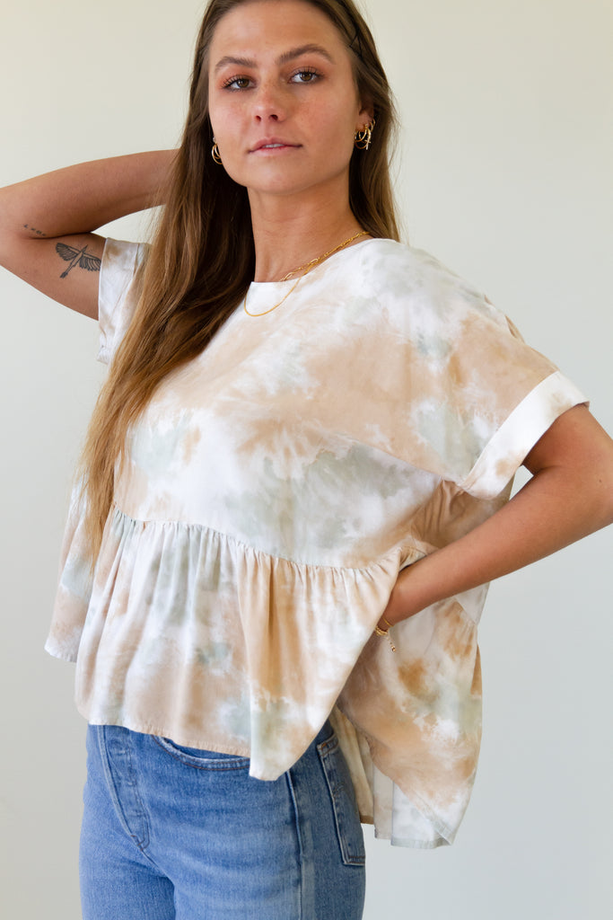 Hideaway Tie Dye Top by For Good