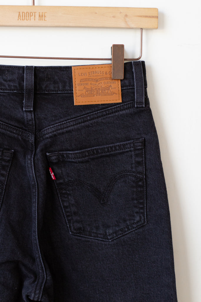 black ribcage jeans by levis