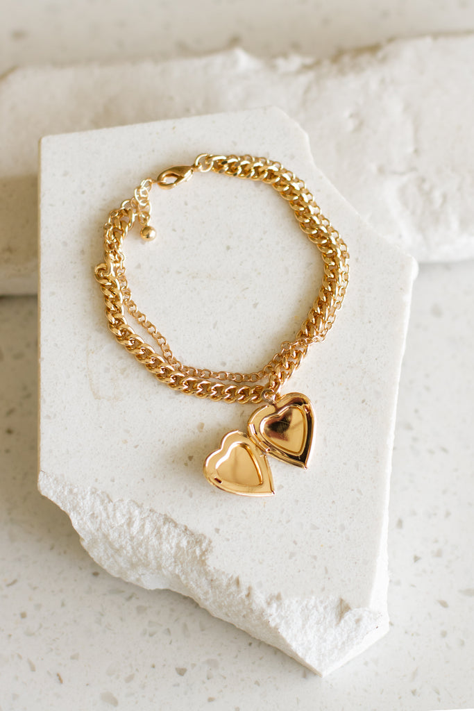 Heart Locket Chain Bracelet