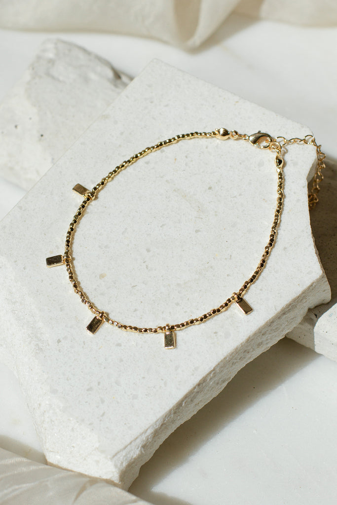 Falling Again Gold Anklet