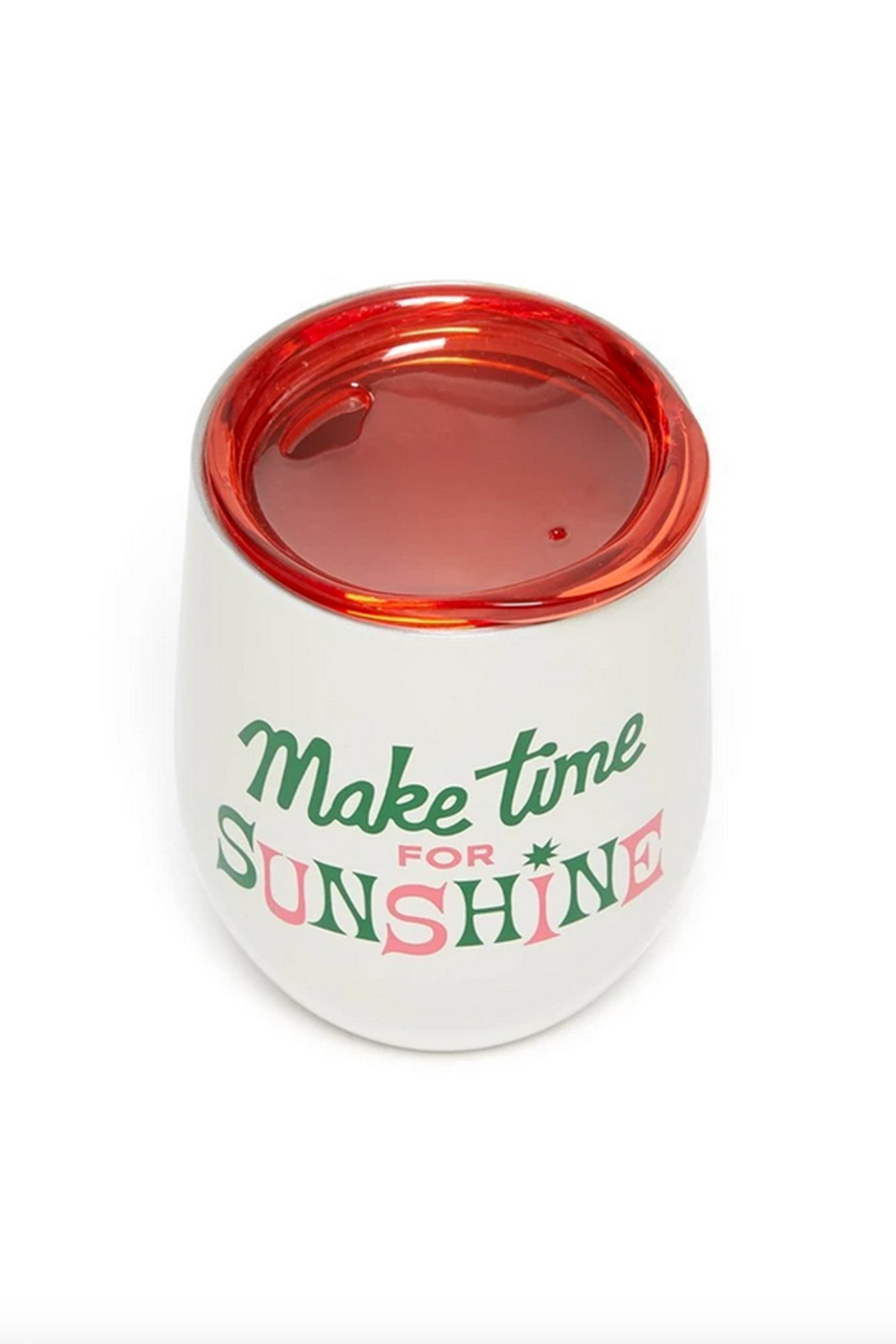 Make Time For Sunshine Wine Tumbler by ban.do