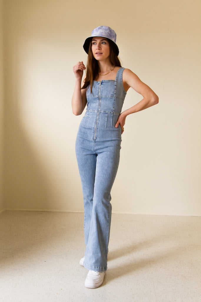 Doing Fine Denim Jumpsuit