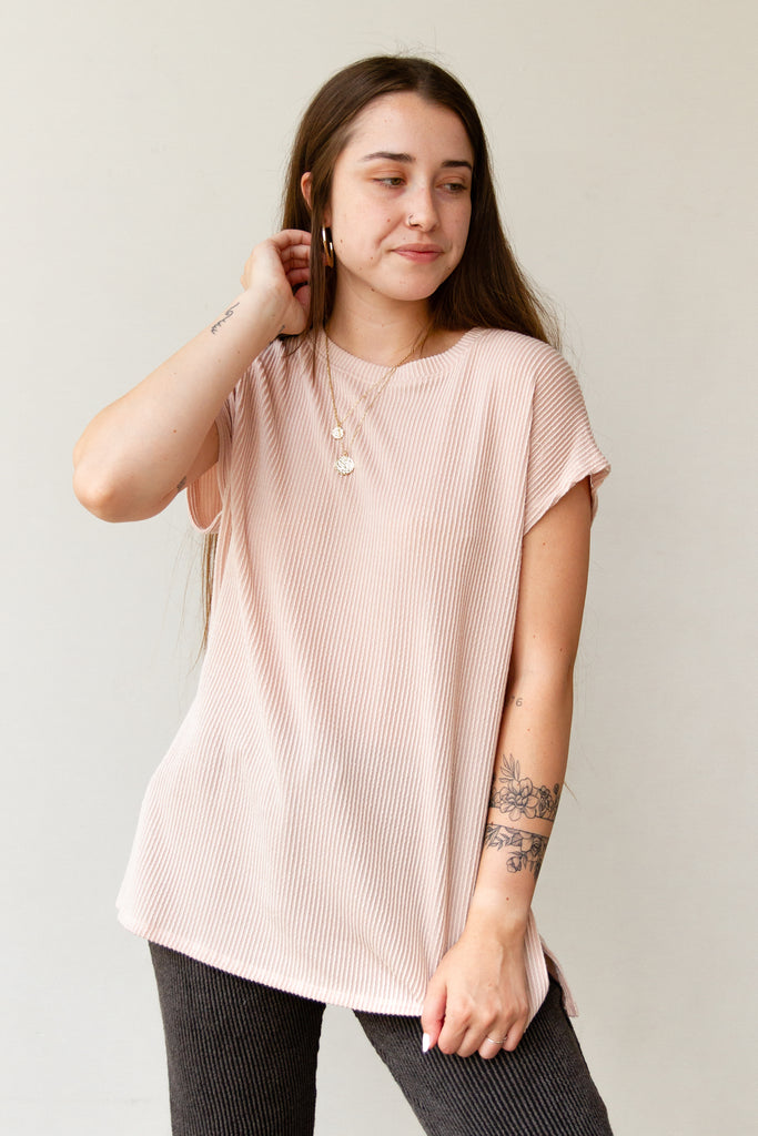 Try Again Ribbed Short Sleeve Top