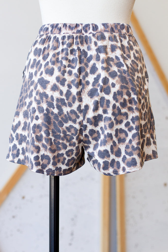 Not A Bad Thing Animal Print Shorts by For Good