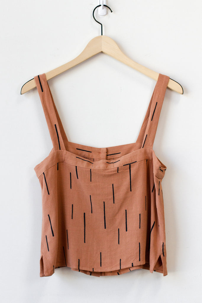 rust cami top