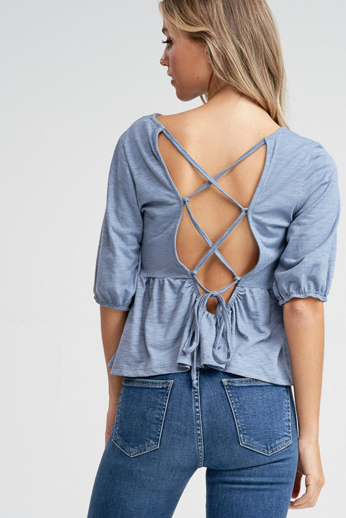 blue cross back top