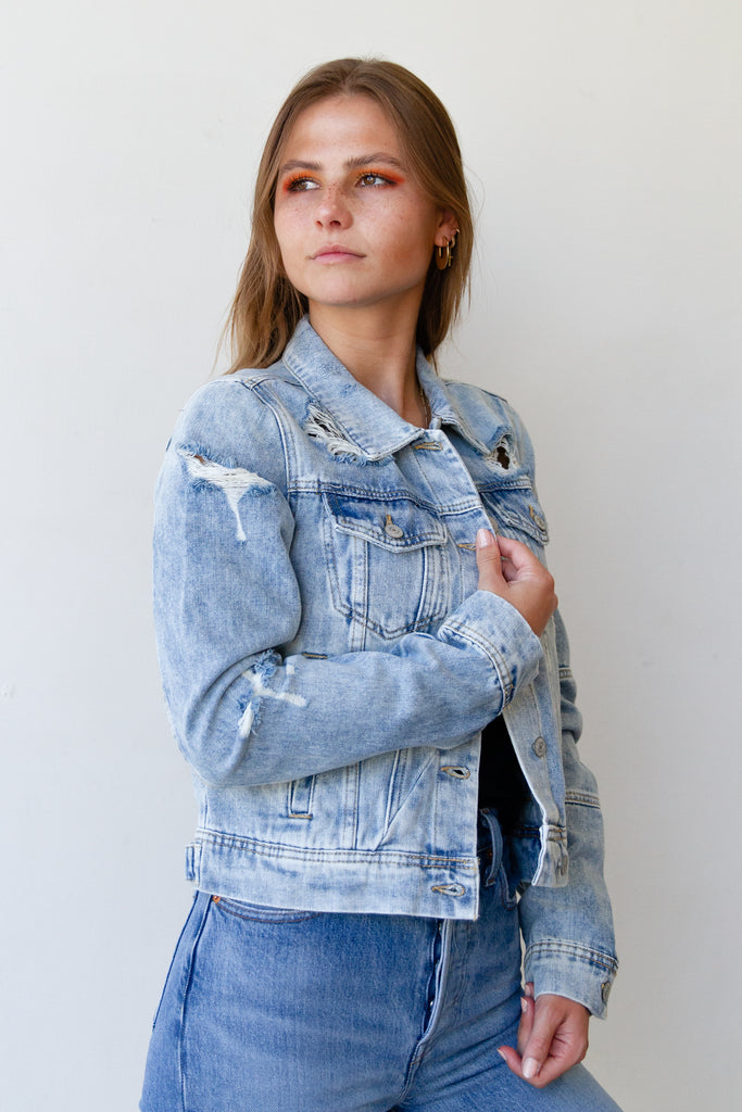 These Words Denim Jacket By Free People