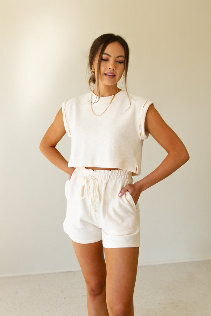 The Nostalgia Drawstring Shorts by For Good
