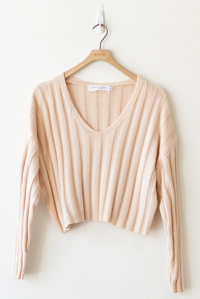 ivory ribbed sweater