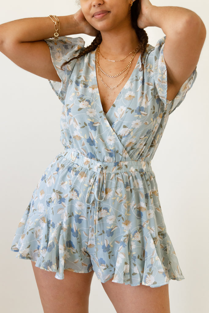 East Coast Floral Romper