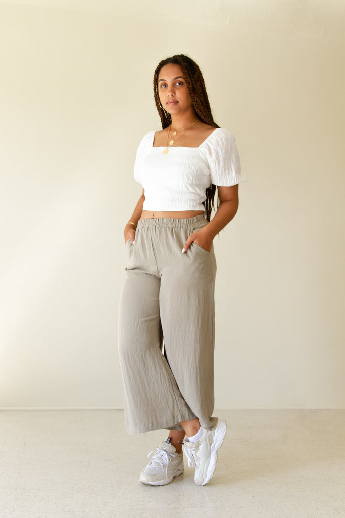 Be Alone Wide-Leg Pants by For Good