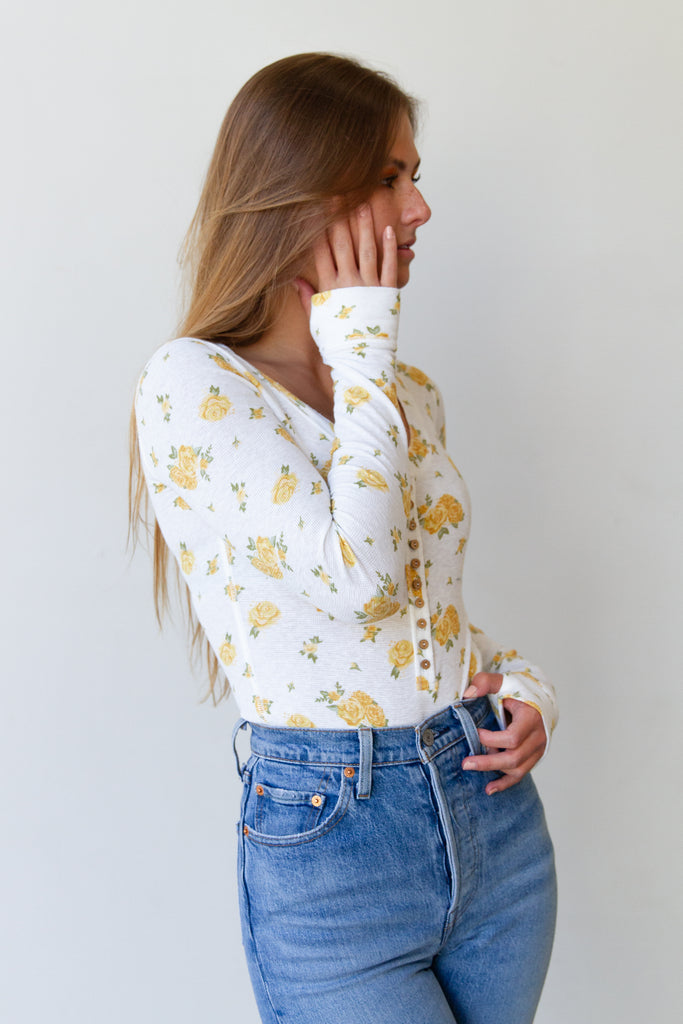 The Endearing Floral Bodysuit By Free People