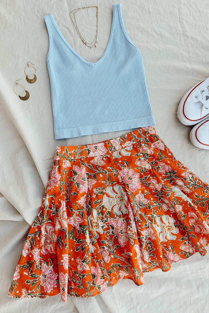 Can't Help It Floral Skirt by Free People