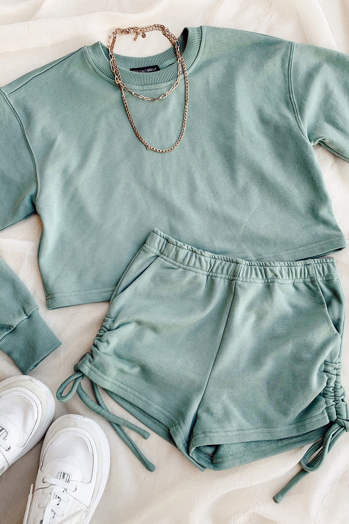 sage cropped sweater