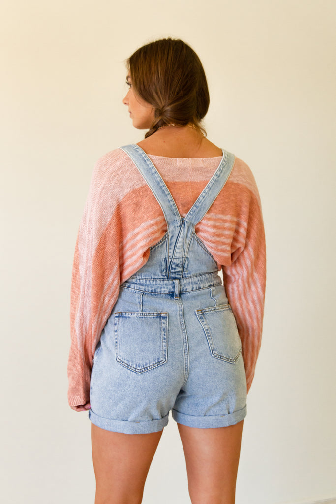 Everyday Love Denim Overall Shorts