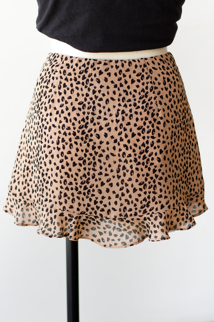 Romantic Heart Animal Print Shorts