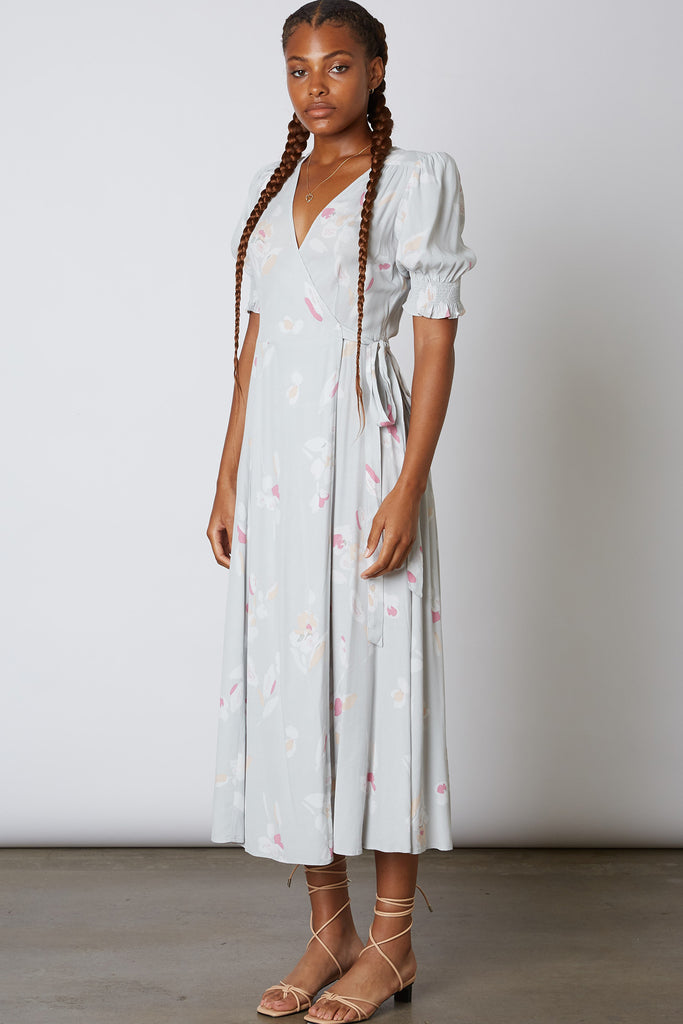 Be Mine Floral Wrap Dress