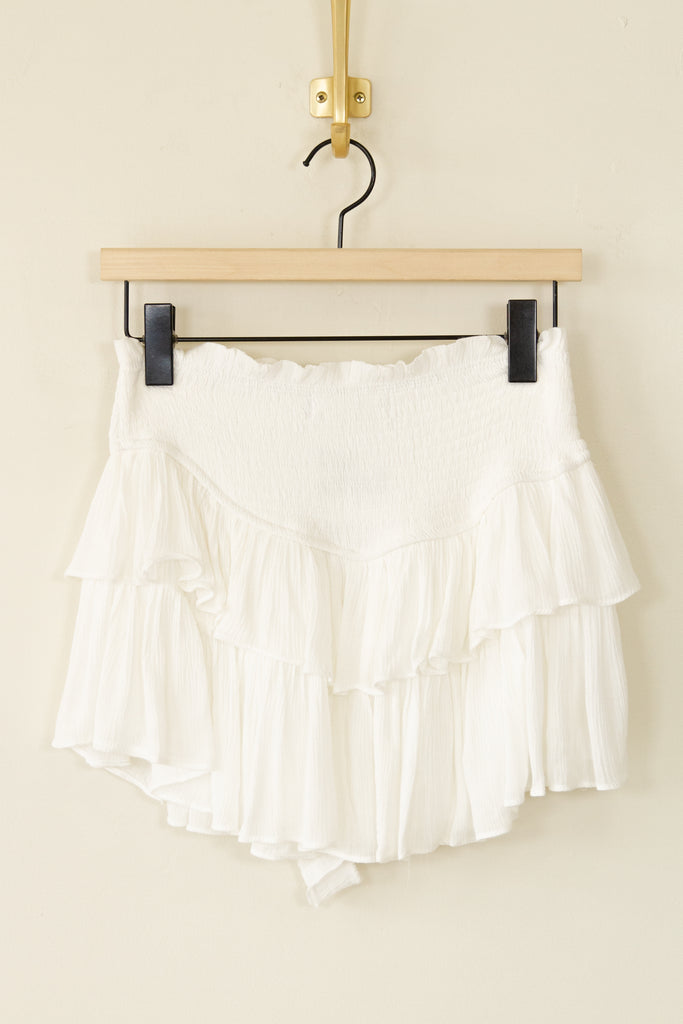 The Patience Ruffle Shorts by For Good