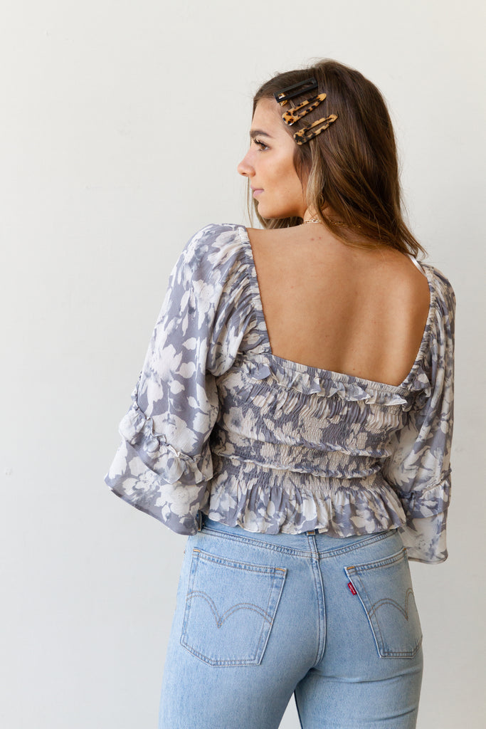 Lean In Floral Top by For Good