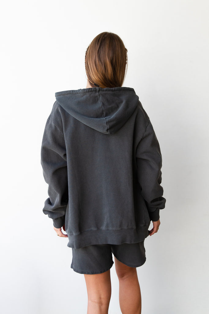 charcoal hooded jacket