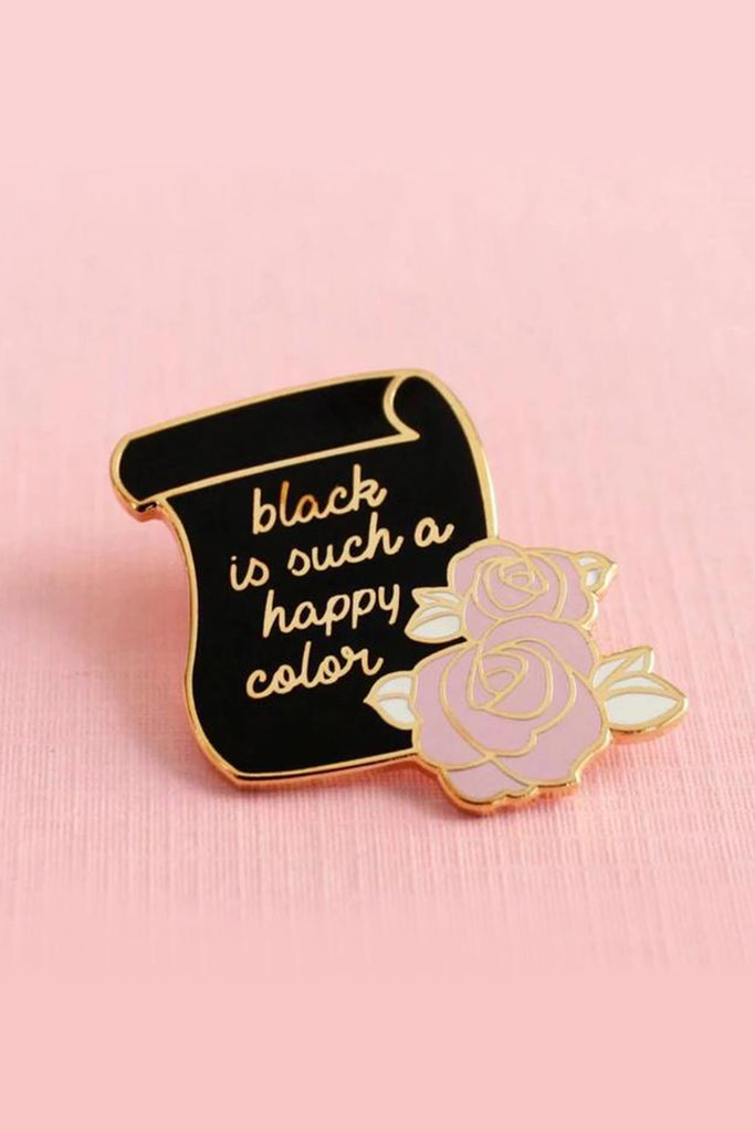 Black Is A Happy Color Pin by For Good