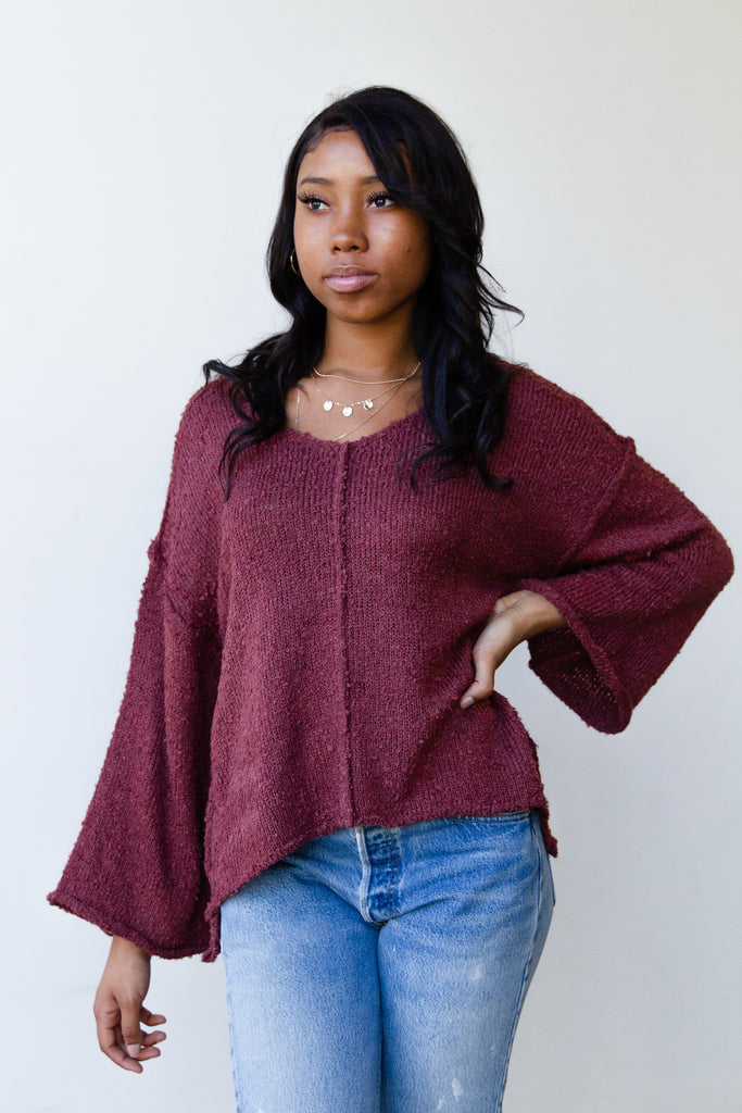knit wide sleeved sweater