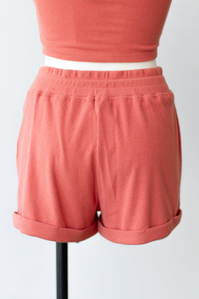 Guessing Game Fabric Shorts