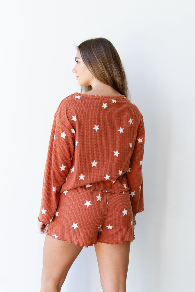 Secrets Star Printed Top