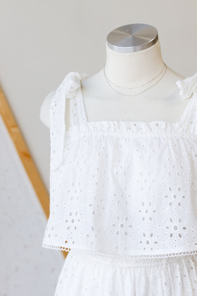 Saturday Sun Eyelet Dress by For Good