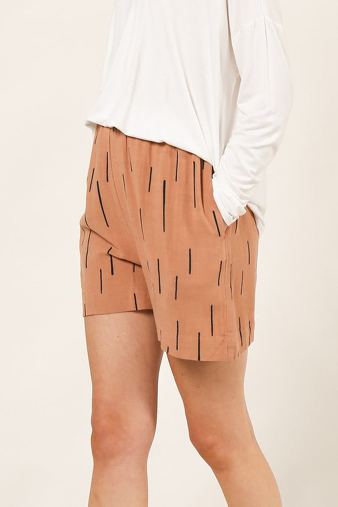Good Girl Dash Print Shorts by For Good