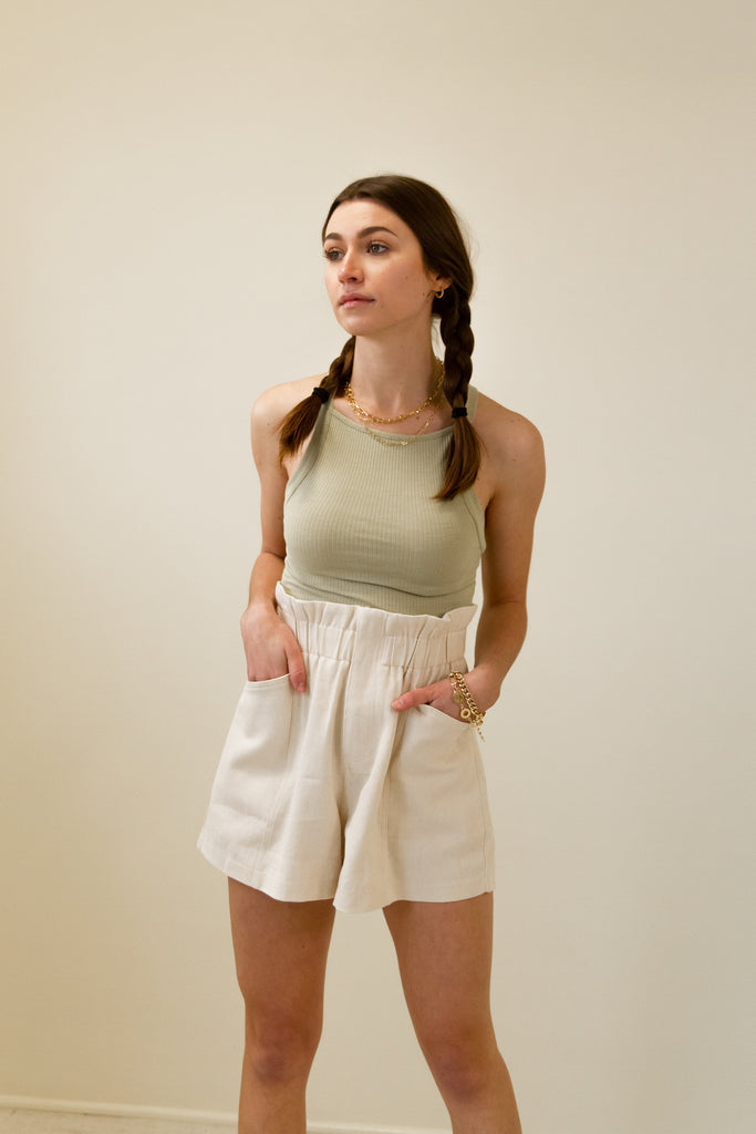 The Harmony High Waisted Shorts by For Good