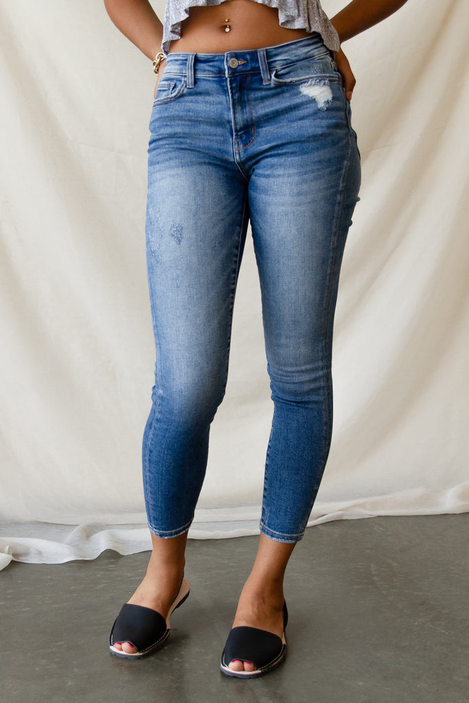 The Hazel Super High Rise Ankle Skinny By Nectar Premium Denim