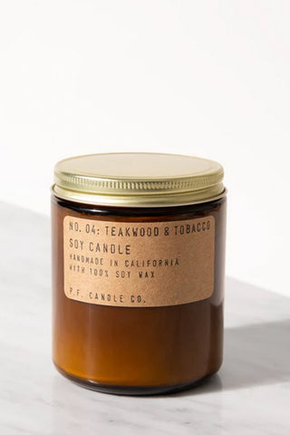 Teakwood & Tobacco 7.2oz Candle by P.F. Candle