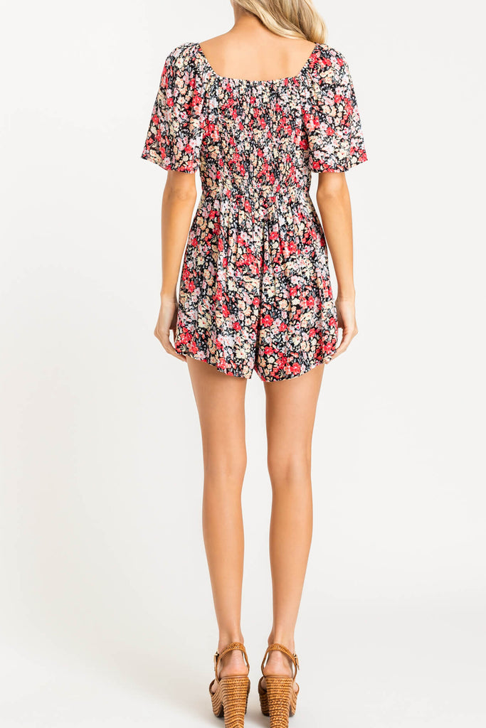 The Revival Floral Romper by For Good