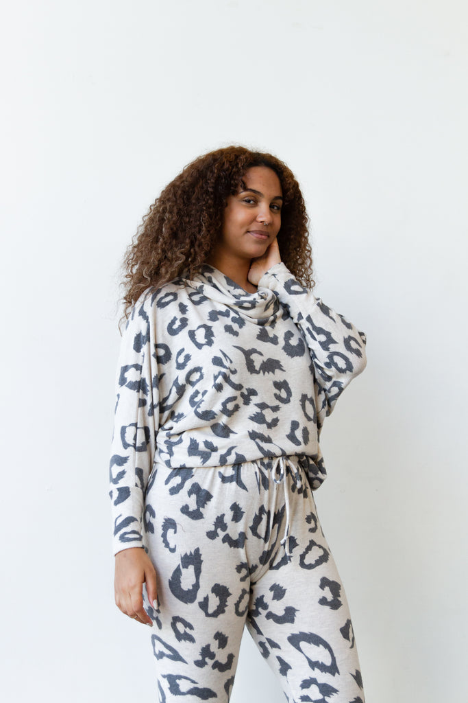 Dig Deep Animal Print Sweater By For Good