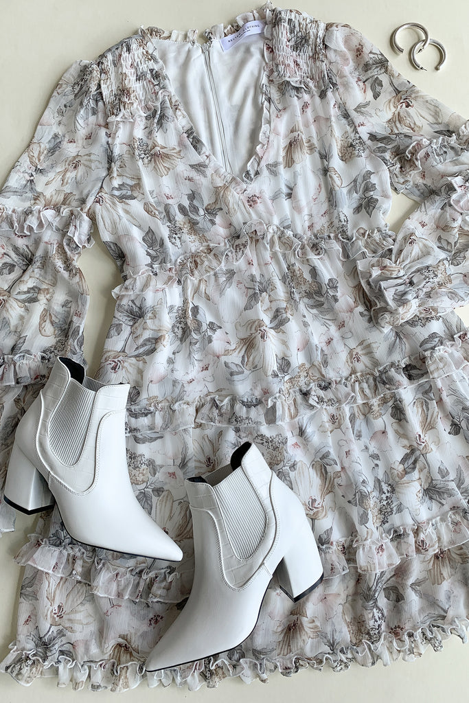 You Don't Have To Floral Ruffle Dress