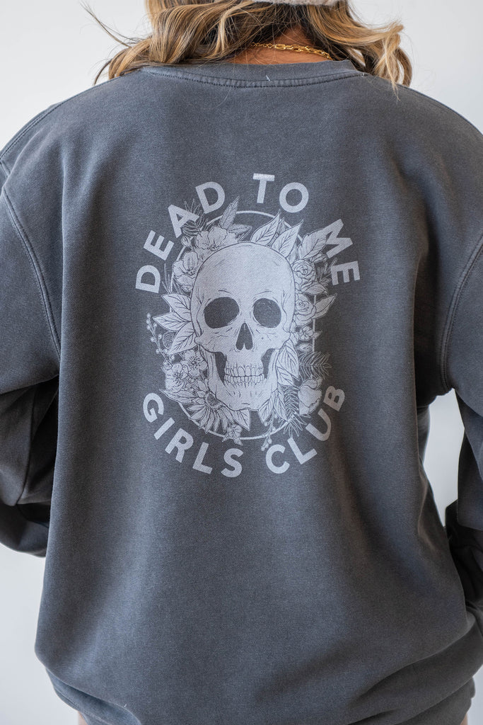 Dead To Me Girls Club Graphic Sweater By For Good