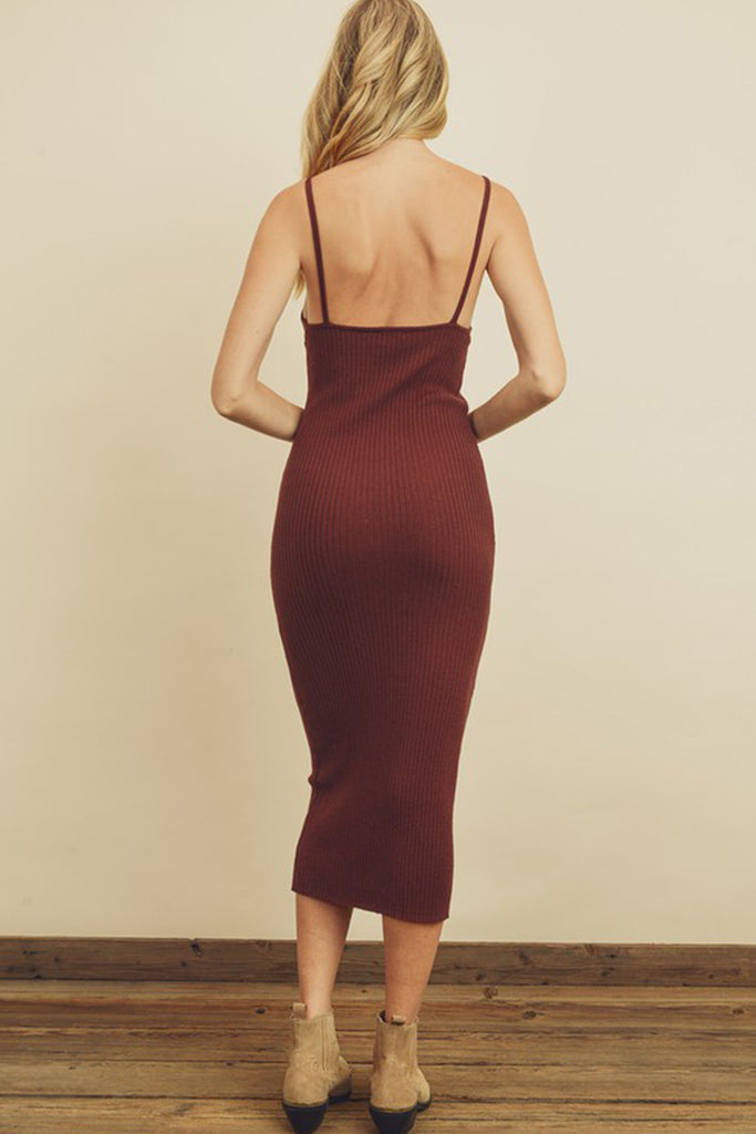 Slow Dance Ribbed Bodycon Dress