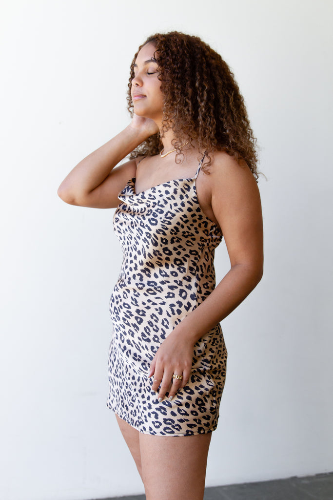 Going Out Animal Print Dress