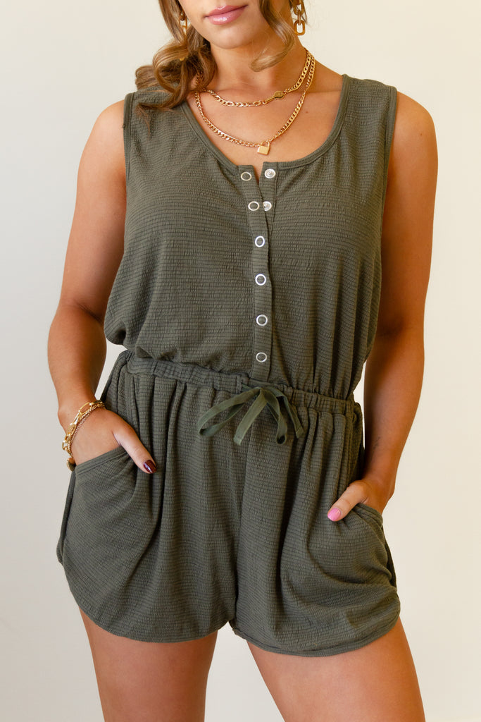 Our Dance Sleeveless Romper by For Good