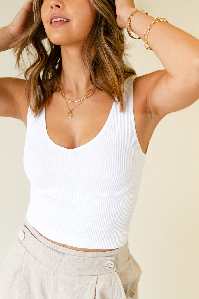 The Breakeven Ribbed Crop Top