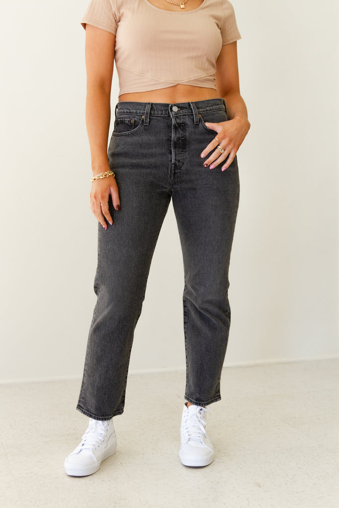 wedgie straight leg denim jeans