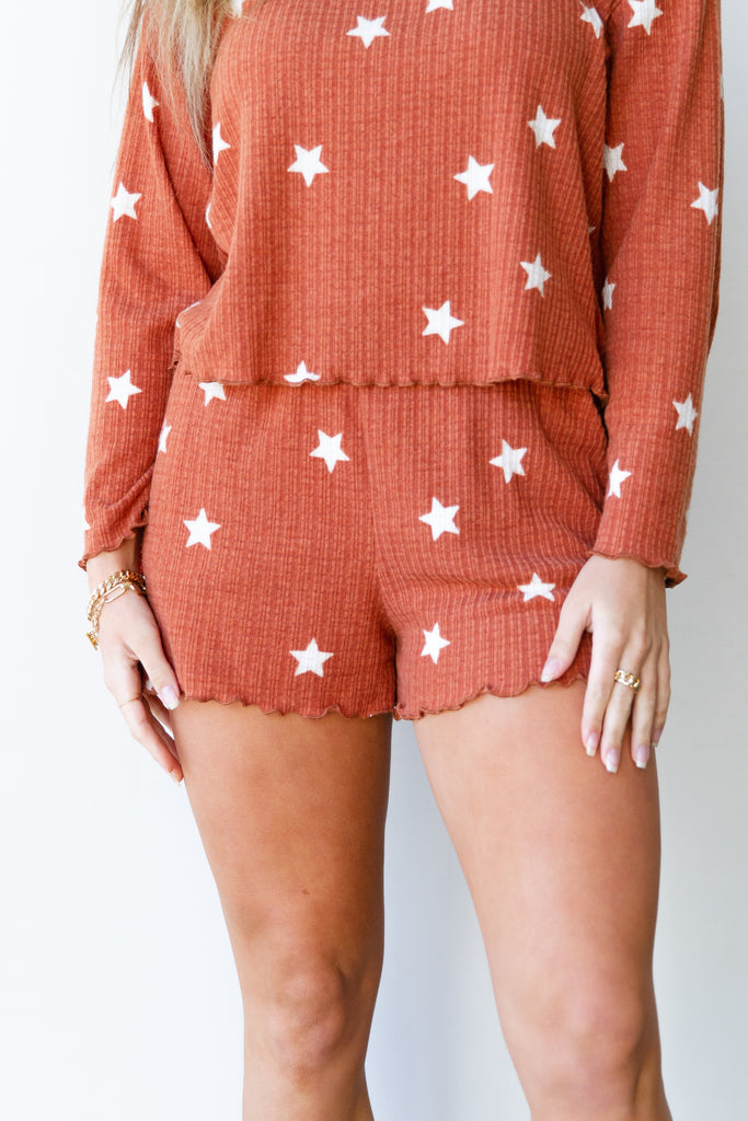 Secrets Star Printed Shorts